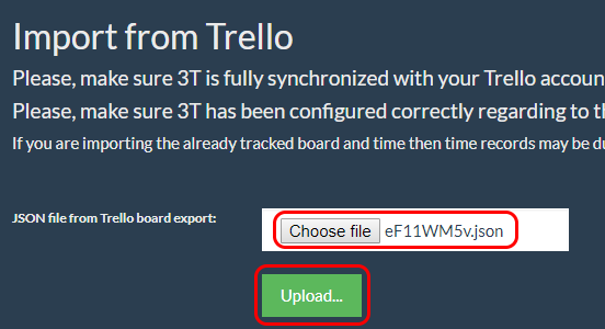 upload json file from Trello